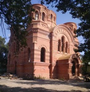 Тихвинский храм г. Саратова, строительство, сентябрь 2018 г.